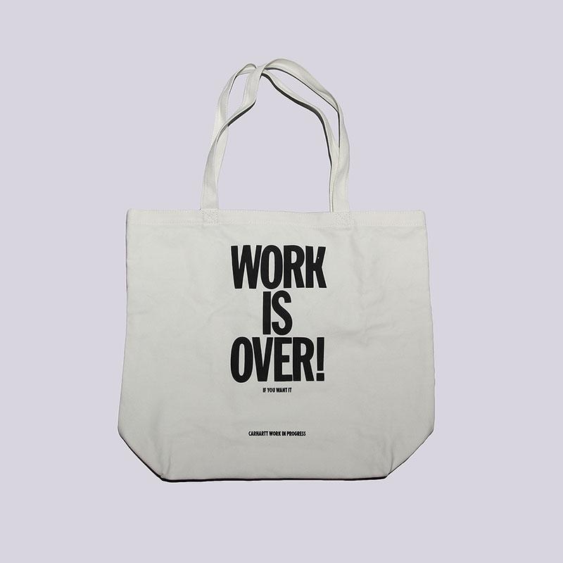 Сумка Carhartt WIP Work ToteСумки, рюкзаки<br>Хлопок<br><br>Цвет: Бежевый<br>Размеры : OS