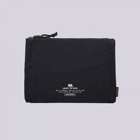 синюю  косметичка carhartt wip camp pouch small L022608-navy/wht - цена, описание, фото 1