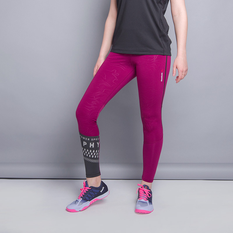 Леггинсы Reebok Speedwick Thermal LeggingБрюки и джинсы<br>86% полиэстер, 14% эластан<br><br>Цвет: Малиновый<br>Размеры US: L;M;S<br>Пол: Женский