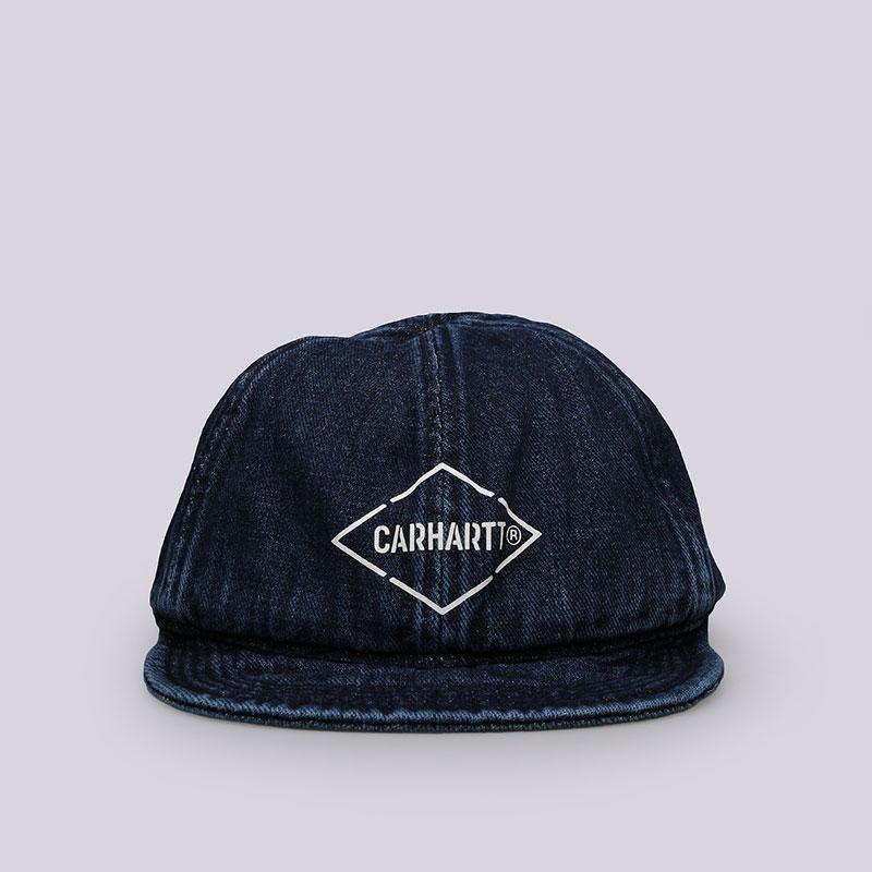 Кепка Carhartt WIP Booth CapКепки<br>Хлопок<br><br>Цвет: Синий<br>Размеры : OS<br>Пол: Мужской