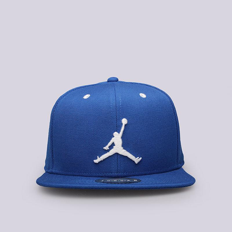 Кепка Jordan Jumpman SnapbackКепки<br>Шерсть, полиэстер, хлопок<br><br>Цвет: Синий<br>Размеры US: OS