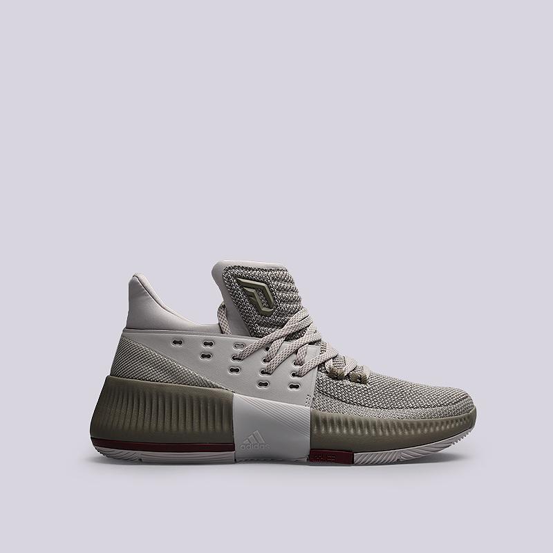 Кроссовки adidas D Lillard 3Кроссовки баскетбольные<br>Текстиль, синтетика, резина<br><br>Цвет: Серый, зеленый<br>Размеры UK: 6.5;7;7.5;13.5<br>Пол: Мужской