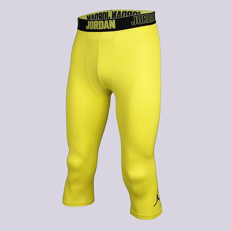 Кальсоны Jordan 23 Alpha Dry 3/4 TightКомпрессионное белье<br>Полиэстер, эластан<br><br>Цвет: Жёлтый<br>Размеры US: S;2XL<br>Пол: Мужской