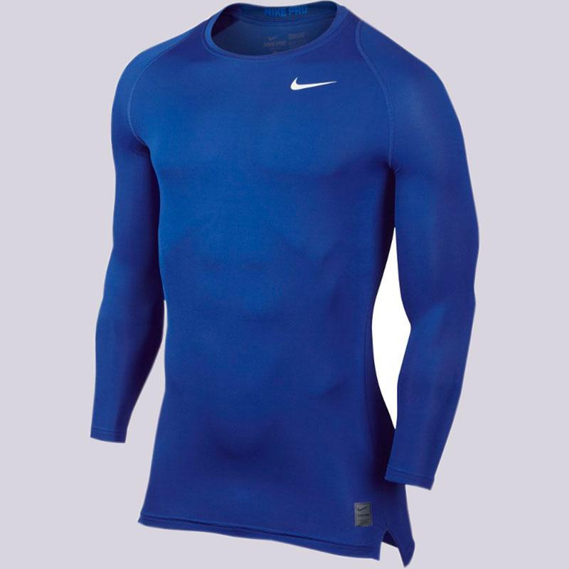 Лонгслив Nike M NP Top Comp LS CRWКомпрессионное белье<br>Полиэстер, эластан<br><br>Цвет: Синий<br>Размеры US: L;XL<br>Пол: Мужской
