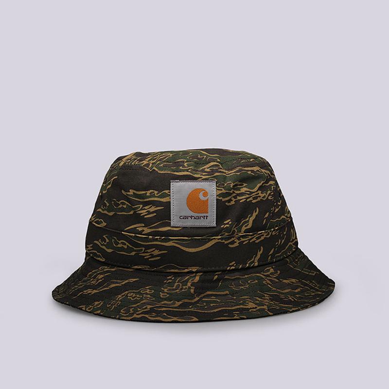 Панама Carhartt WIP Camp Bucket HatКепки<br>Хлопок<br><br>Цвет: Камуфляж<br>Размеры : M/L