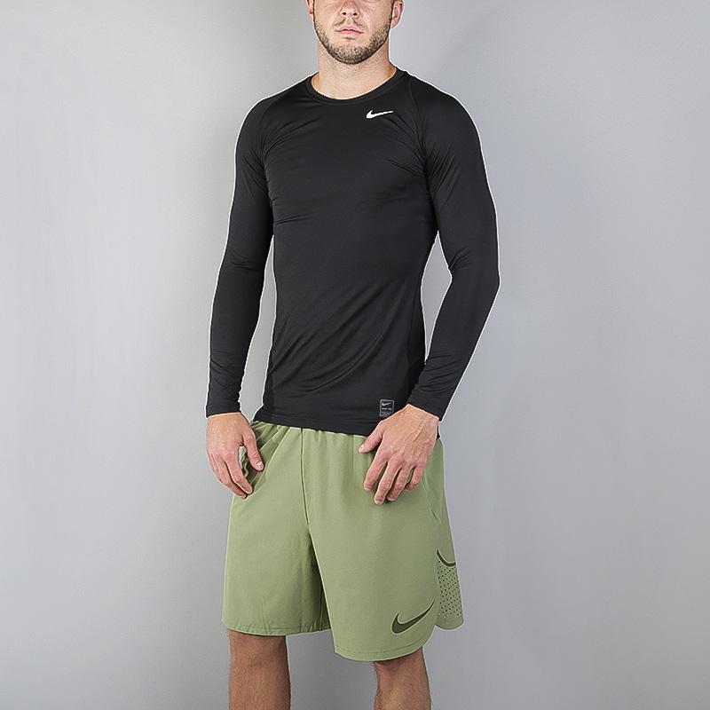 Лонгслив Nike Compression LS TopКомпрессионное белье<br>Полиэстер, эластан<br><br>Цвет: Чёрный<br>Размеры US: S;2XL<br>Пол: Мужской