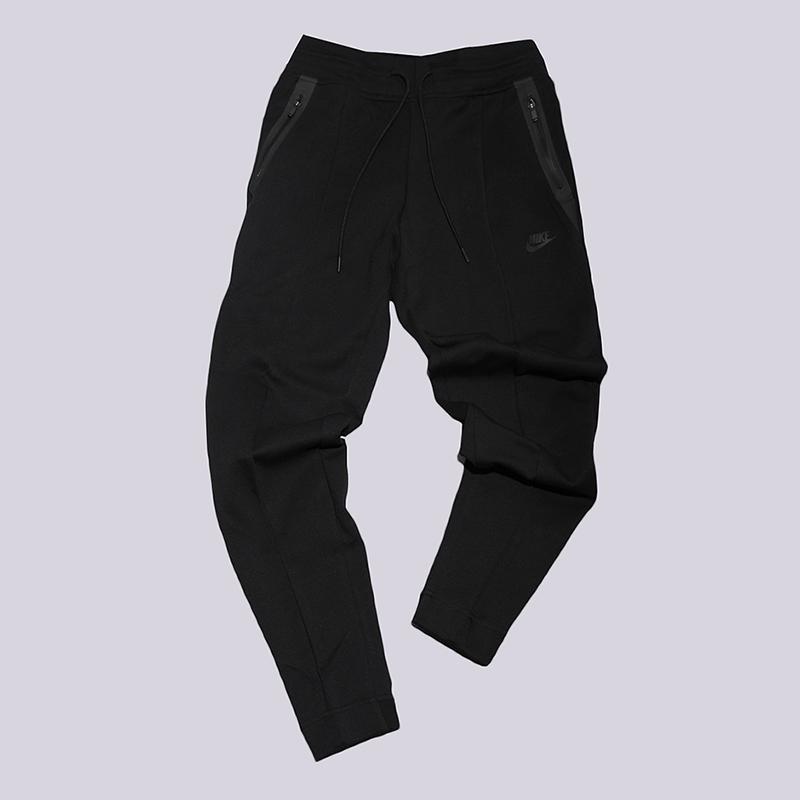 Брюки Nike Tech Fleece PantБрюки и джинсы<br>69% хлопок, 31% полиэстер<br><br>Цвет: Черный<br>Размеры US: L<br>Пол: Женский