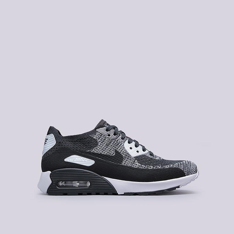 Кроссовки  Nike Sportswear WMNS Air Max 90 Ultra 2.0 FlyknitКроссовки lifestyle<br>Текстиль, резина<br><br>Цвет: Чёрный<br>Размеры US: 6.5;7;7.5;8;8.5;9<br>Пол: Женский