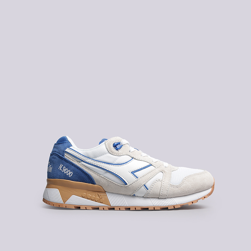 Кроссовки Diadora N9000 IIIКроссовки lifestyle<br>Кожа, текстиль, резина<br><br>Цвет: Белый, голубой, коричневый<br>Размеры UK: 7<br>Пол: Мужской