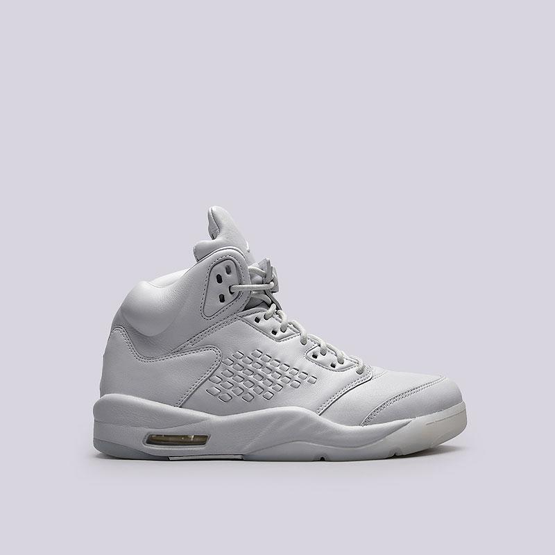 Кроссовки Jordan V Retro PRMКроссовки lifestyle<br>Кожа, резина<br><br>Цвет: Белый<br>Размеры US: 8;8.5;9;9.5<br>Пол: Мужской