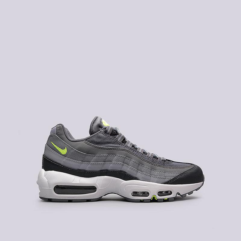 Кроссовки  Nike Sportswear Air Max 95 EssentialКроссовки lifestyle<br>Кожа, текстиль, синтетика, резина, пластик<br><br>Цвет: Серый<br>Размеры US: 15<br>Пол: Мужской