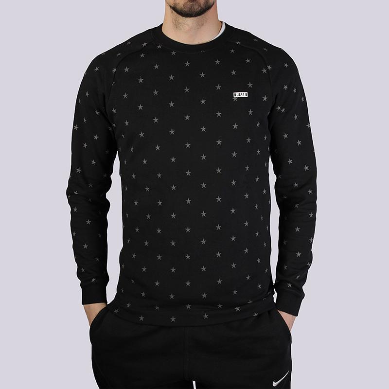 Толстовка Nike Sportswear Fleece Crew AF1Толстовки свитера<br>80% хлопок, 20% полиэстер<br><br>Цвет: Черный<br>Размеры US: XL<br>Пол: Мужской