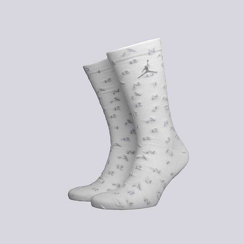 Носки Jordan 5 CrewНоски<br>Хлопок, нейлон, эластан<br><br>Цвет: Белый<br>Размеры US: M;L<br>Пол: Мужской