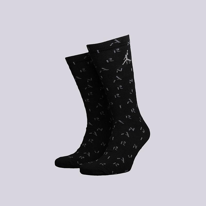 мужские чёрные  носки jordan 5 crew SX5325-010 - цена, описание, фото 1