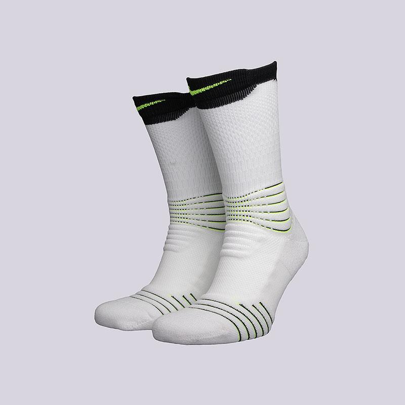 Носки Nike Elite Versatility CrewНоски<br>Хлопок, полиэстер, нейлон, эластан<br><br>Цвет: Белый<br>Размеры US: L;XL<br>Пол: Мужской