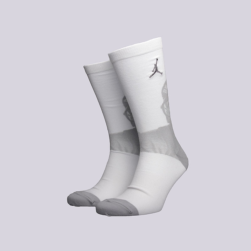 Носки Jordan 4 CrewНоски<br>Хлопок, полиэстер, нейлон, эластан<br><br>Цвет: Белый<br>Размеры US: M;L;XL<br>Пол: Мужской