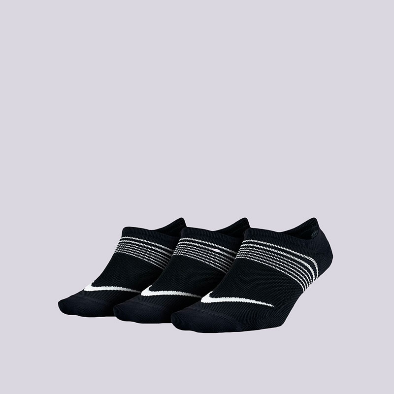 Носки Nike WMNS Lightweight Train 3PPKНоски<br>Нейлон, полистер, ластан<br><br>Цвет: Чёрный<br>Размеры US: S;M<br>Пол: Женский