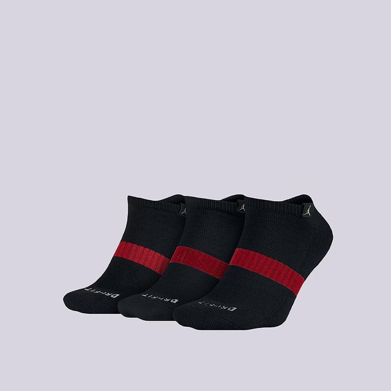 Носки Jordan Dri-Fit No-Show 3PPKНоски<br>Полиэстер, нейлон, эластан<br><br>Цвет: Чёрный<br>Размеры US: M;L;XL<br>Пол: Мужской