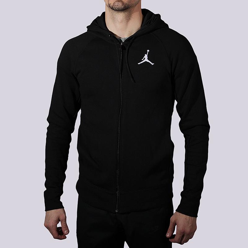 Толстовка Jordan Flight Lite FZ HoodieТолстовки свитера<br>82% хлопок, 18% полистер<br><br>Цвет: Черный<br>Размеры US: M<br>Пол: Мужской