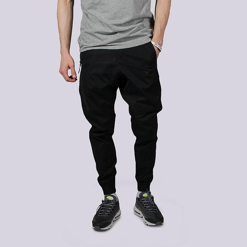 Брюки Nike Sportswear Bonded Jogger PantsБрюки и джинсы<br>Хлопок, эластан<br><br>Цвет: Чёрный<br>Размеры US: 30;34;36;40<br>Пол: Мужской