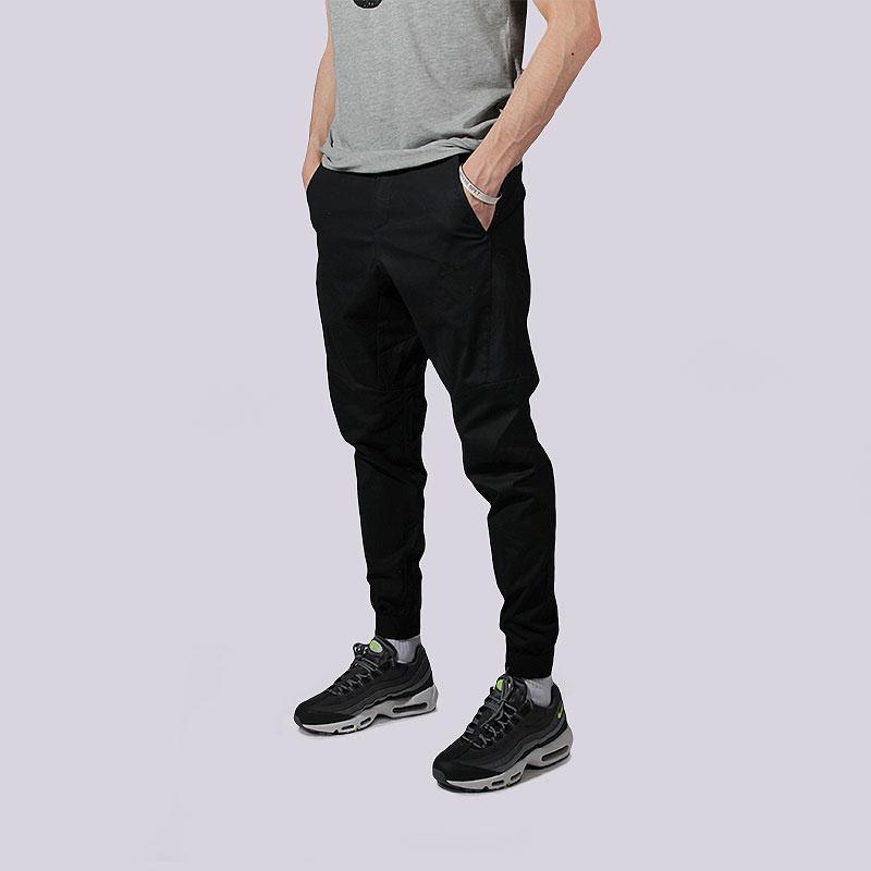 9319e7ae1906 мужские чёрные брюки nike bonded jogger pants 823363-010 - цена, описание,  фото