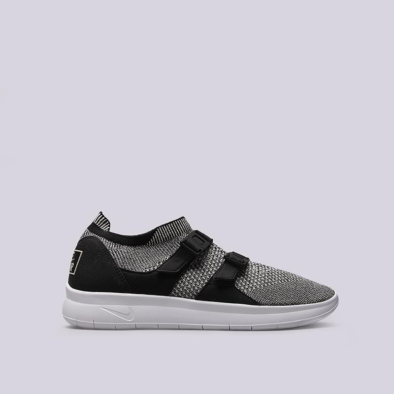 Кроссовки Nike Sportswear Air Sockracer FlyknitКроссовки lifestyle<br>Текстиль, резина, пластик<br><br>Цвет: Черный, серый<br>Размеры US: 8;9;9.5;10.5;11;11.5<br>Пол: Мужской