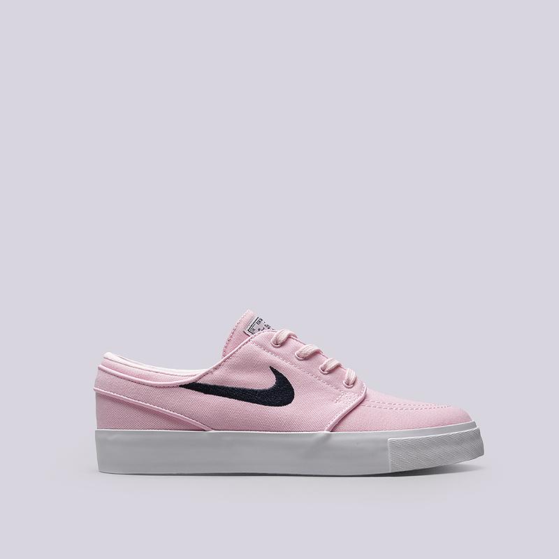 Кроссовки Nike SB Zoom Stefan Janoski CNVSКроссовки lifestyle<br>Текстиль, резина<br><br>Цвет: Розовый<br>Размеры US: 8.5;9;10.5