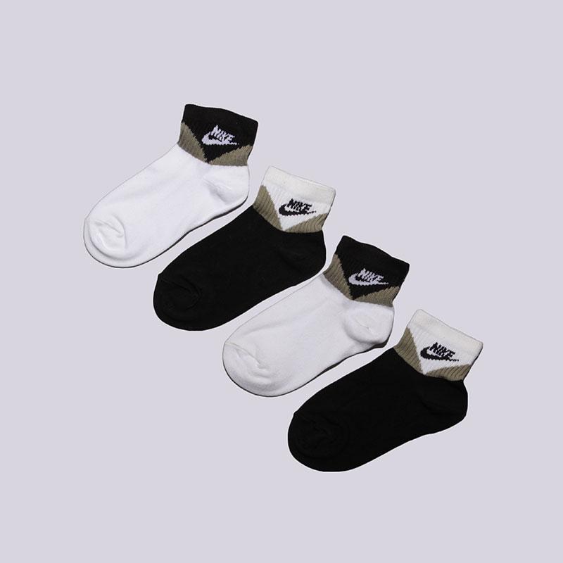 Носки Nike Sportswear Lightweight QuarterНоски<br>Хлопок<br><br>Цвет: Чёрный, белый<br>Размеры US: S