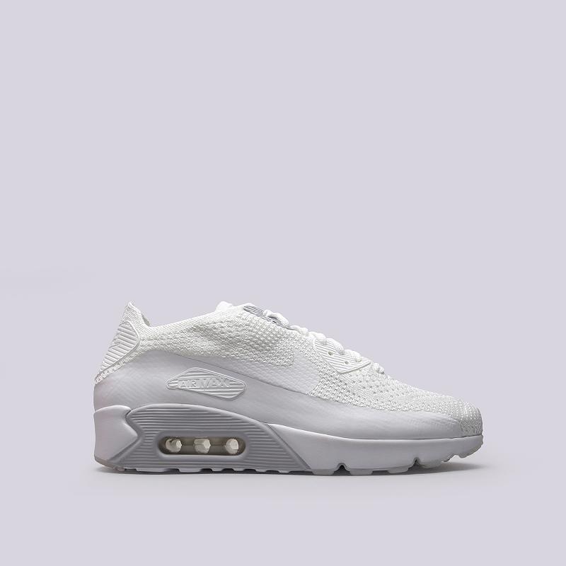 Кроссовки Nike Sportswear Air Max 90 Ultra 2.0 FlyknitКроссовки lifestyle<br>Текстиль, резина, пластик<br><br>Цвет: Белый<br>Размеры US: 8.5;9;10.5;11.5;12.5;13;14<br>Пол: Мужской