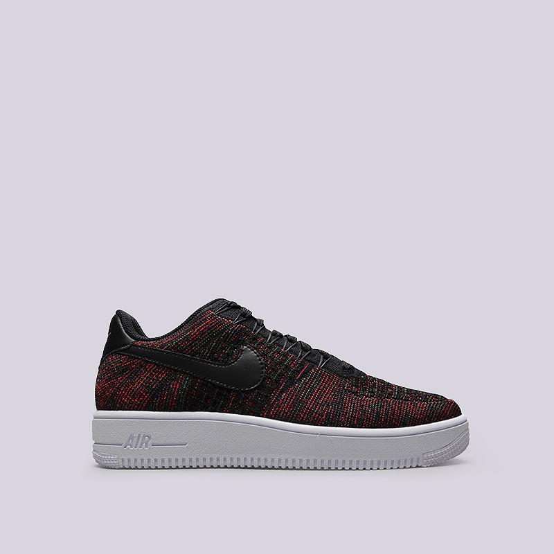 Кроссовки Nike Sportswear Air Force 1 Ultra Flyknut LowКроссовки lifestyle<br>Текстиль, синтетика, резина<br><br>Цвет: Черный, красный<br>Размеры US: 8;11.5<br>Пол: Мужской