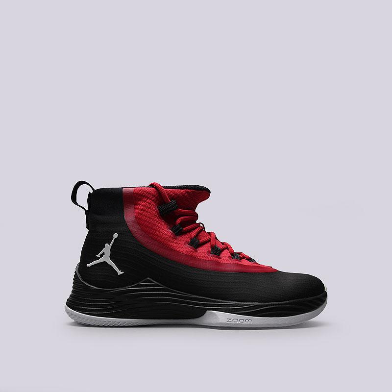 Кроссовки Jordan Ultra Fly 2Кроссовки баскетбольные<br>Пластик, текстиль, резина<br><br>Цвет: Красный<br>Размеры US: 8.5<br>Пол: Мужской