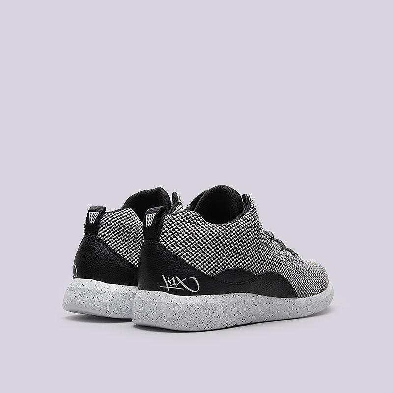 мужские белые, чёрные  кроссовки  k1x rs 93 x-knit 1161-0307/0101 - цена, описание, фото 3