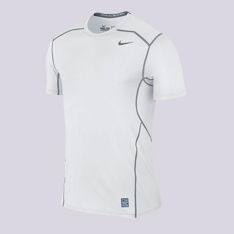 Футболка Nike Hypercool LiteКомпрессионное белье<br>Полиэстер, эластан<br><br>Цвет: Белый<br>Размеры US: 2XL<br>Пол: Мужской