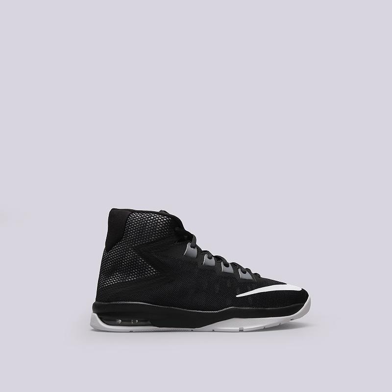 Кроссовки Nike Air Devosion GSКроссовки баскетбольные<br>Текстиль, резина, пластик<br><br>Цвет: Черный<br>Размеры US: 3.5Y<br>Пол: Детский