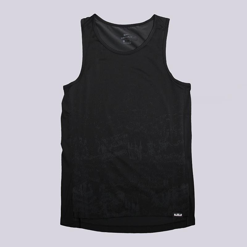 Майка Nike Lebron Dry Knit TopБезрукавки<br>95% полиэстер, 5% эластан<br><br>Цвет: Черный<br>Размеры US: L;XL;2XL<br>Пол: Мужской