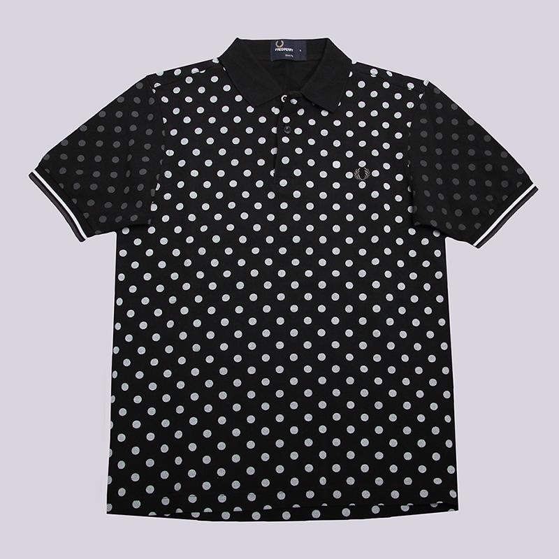Рубашка поло Fred perry Polka Dot Pique ShirtФутболки<br>100% хлопок<br><br>Цвет: Черный<br>Размеры UK: S;M;XL<br>Пол: Мужской
