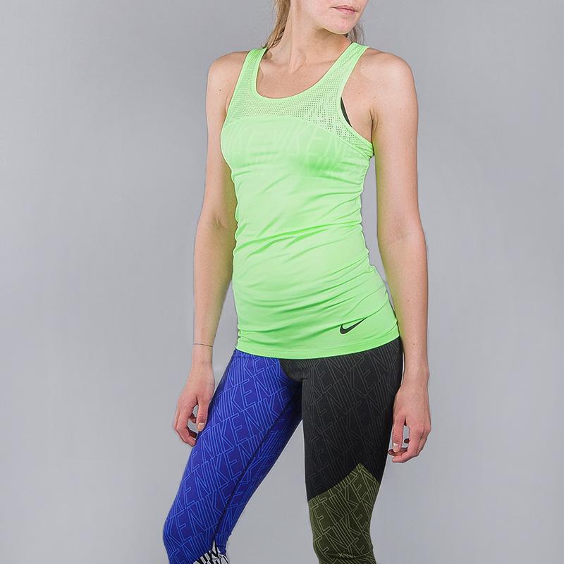 Майка Nike W NP HPRCL TANKФутболки<br>Полиэстер, эластан<br><br>Цвет: Зеленый<br>Размеры US: XS;S;M;L<br>Пол: Женский