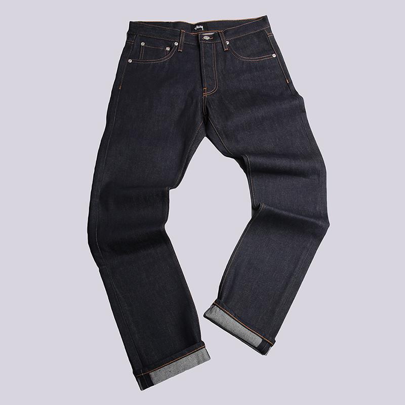 Джинсы Stussy USA Raw Denim JeanБрюки и джинсы<br>100% хлопок<br><br>Цвет: Синий<br>Размеры US: 30;31;32;34<br>Пол: Мужской