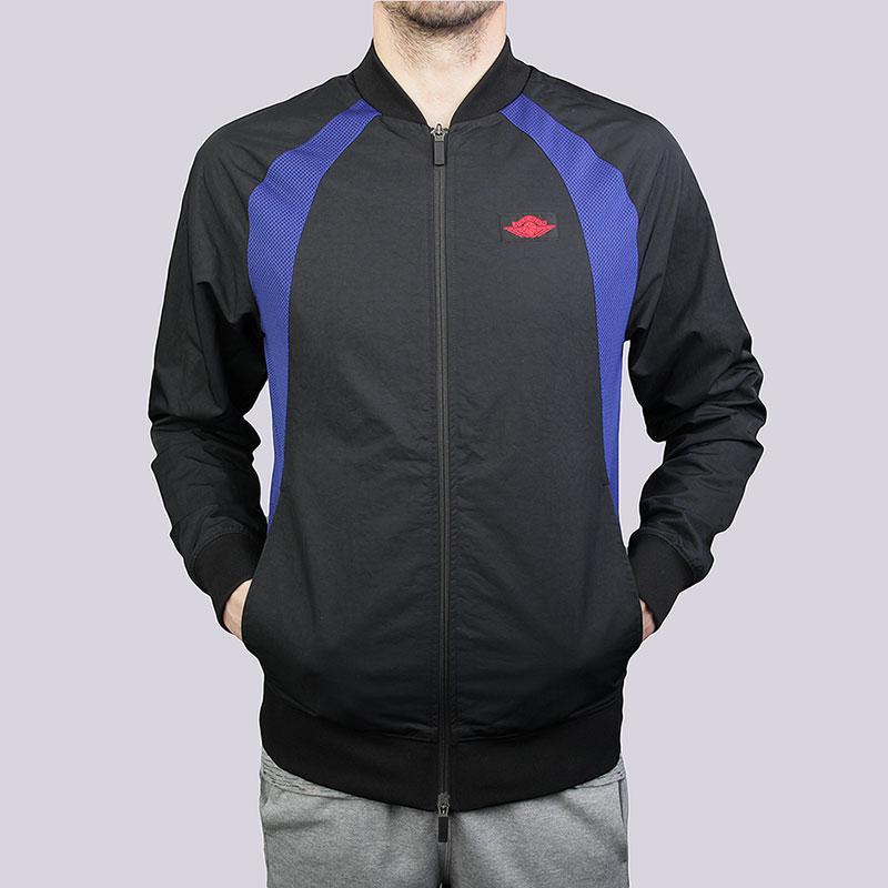 Куртка Jordan AJ 1 JacketКуртки, пуховики<br>Полиэстер, нейлон<br><br>Цвет: Чёрный, синий<br>Размеры US: S;M;L;XL<br>Пол: Мужской
