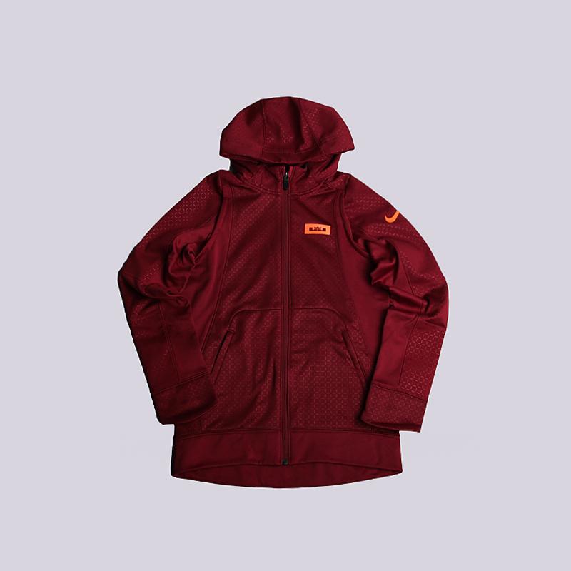 детскую бордовую  толстовка nike lebron therma hoodie 828555-677 - цена, описание, фото 1