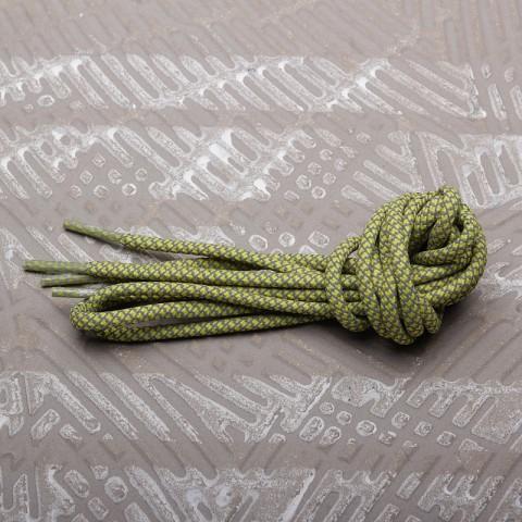 жёлтые  шнурки rope lace supply 3m reflective laces 3M-yellow 48 кругл - цена, описание, фото 1