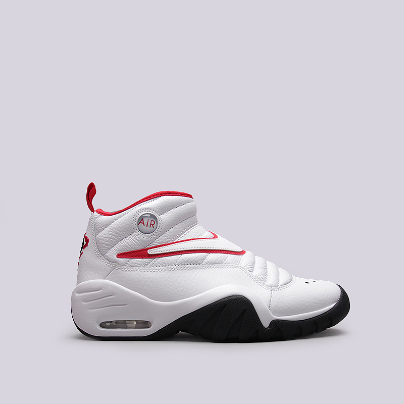Кроссовки Nike Sportswear Air Shake NdestruktКроссовки lifestyle<br>Кожа, текстиль, резина<br><br>Цвет: Белый, красный<br>Размеры US: 9;10;11.5;12<br>Пол: Мужской