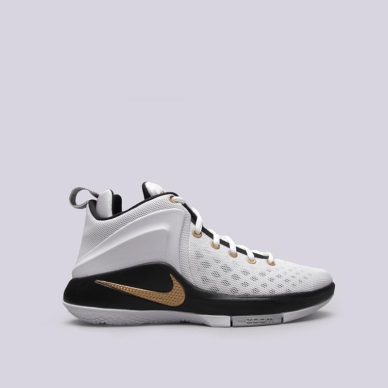Кроссовки Nike Zoom WitnessКроссовки баскетбольные<br>Текстиль, синтетика, резина, пластик<br><br>Цвет: Белый, черный<br>Размеры US: 6;8;11;12.5;14