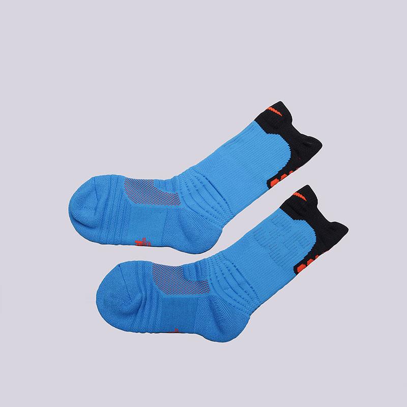 Носки Nike Elite Versality KD CrewНоски<br>Нейлон, полиэстер, хлопок, эластан<br><br>Цвет: Голубой<br>Размеры US: S;M;L<br>Пол: Мужской