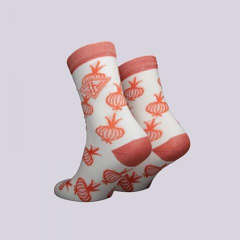 мужские бежевые  носки запорожец heritage лук W Лук-бел/оранж - цена, описание, фото 2