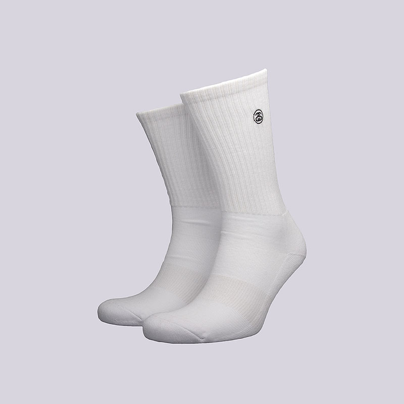 Носки Stussy Mini SS-Link Crew SocksНоски<br>Хлопок, полиамид, эластан<br><br>Цвет: Белый<br>Размеры US: OS<br>Пол: Мужской