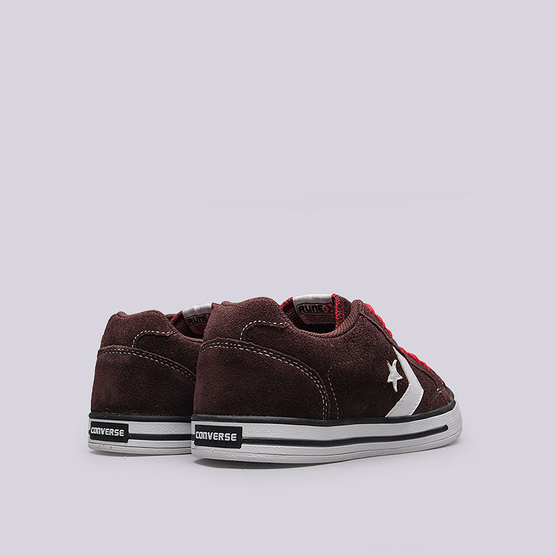 Купить мужские коричневые  кроссовки converse allston в магазинах Streetball изображение - 3 картинки