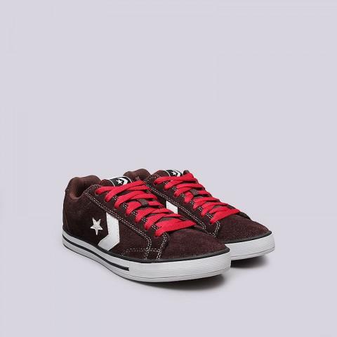 Купить мужские коричневые  кроссовки converse allston в магазинах Streetball - изображение 4 картинки