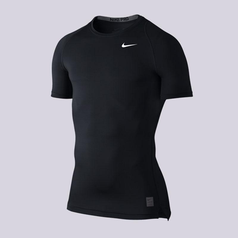 Футболка Nike Pro Cool CompressionКомпрессионное белье<br>Полиэстер, эластан<br><br>Цвет: Чёрный<br>Размеры US: M<br>Пол: Мужской