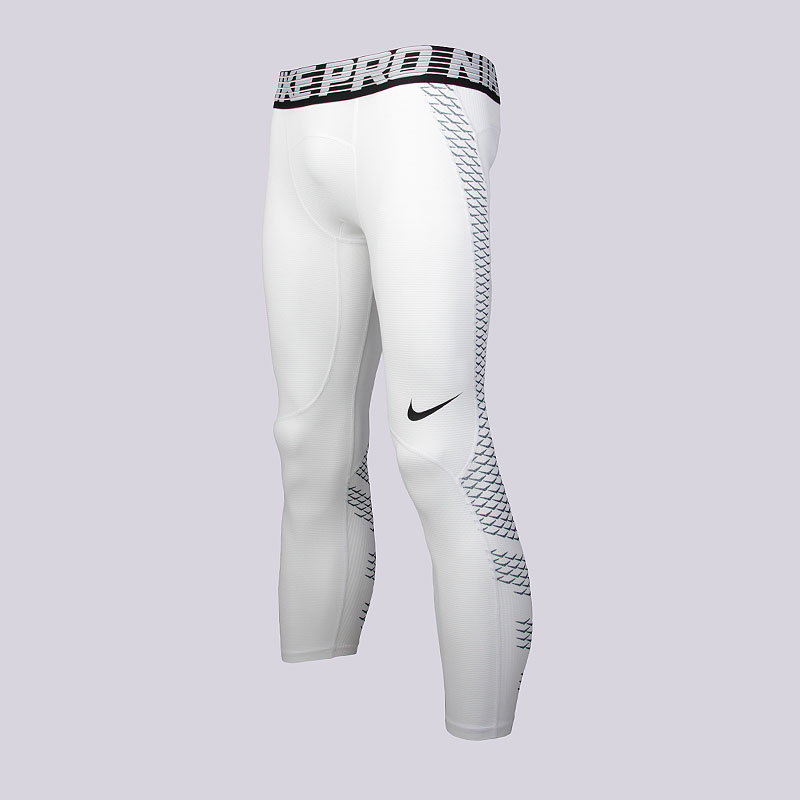Кальсоны Nike M NP HPRCL TGHT 3QTКомпрессионное белье<br>Полиэстер, эластан<br><br>Цвет: Белый<br>Размеры US: S;M;XL;2XL<br>Пол: Мужской